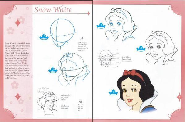 Comment dessiner blanche neige fourtou pinterest - Comment dessiner blanche neige ...