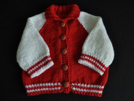 Baby Boy Sweater Patterns Free | Needles: Size 9 and 7 | tejidos ...
