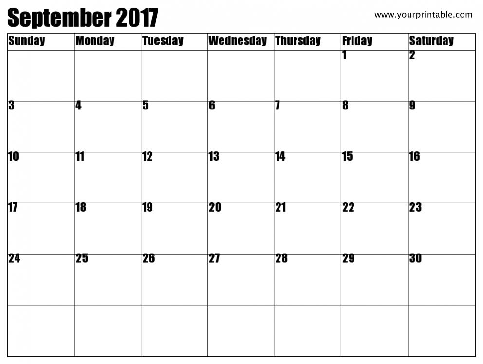 September  Excel Calendar  September  Calendar