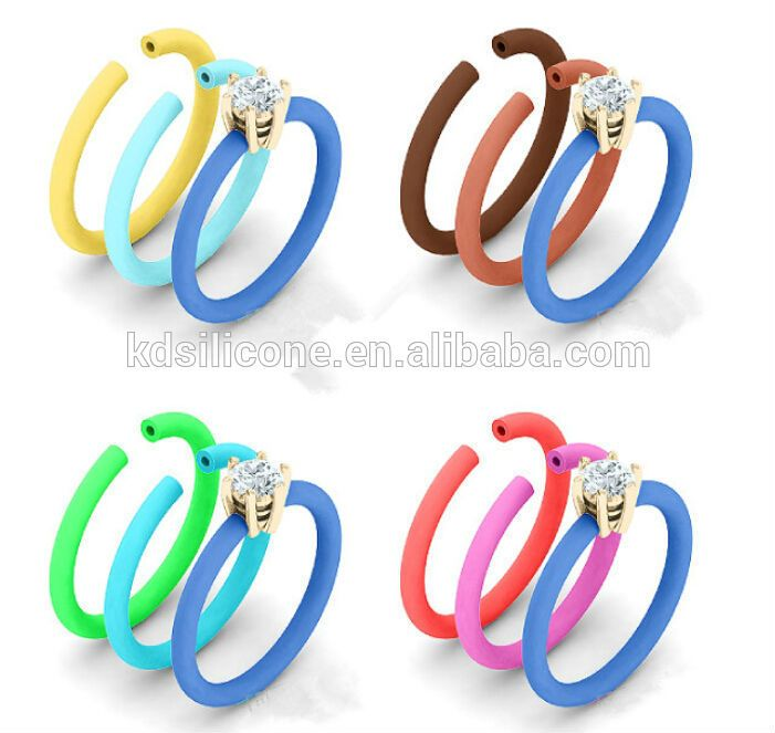 Rubber Band Wedding Rings >> Rubber Band Wedding Rings Silicone Wedding Ring Band With Diamond