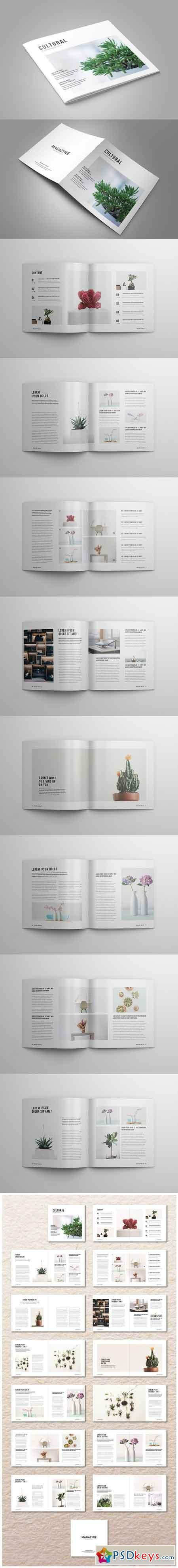 Square InDesign Magazine 2507374 | psd keys | Magazine