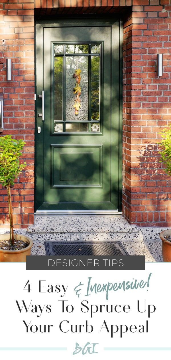 4 Easy Steps to Spruce Up Your Curb Appeal! #curbappeal #exteriordesigntips