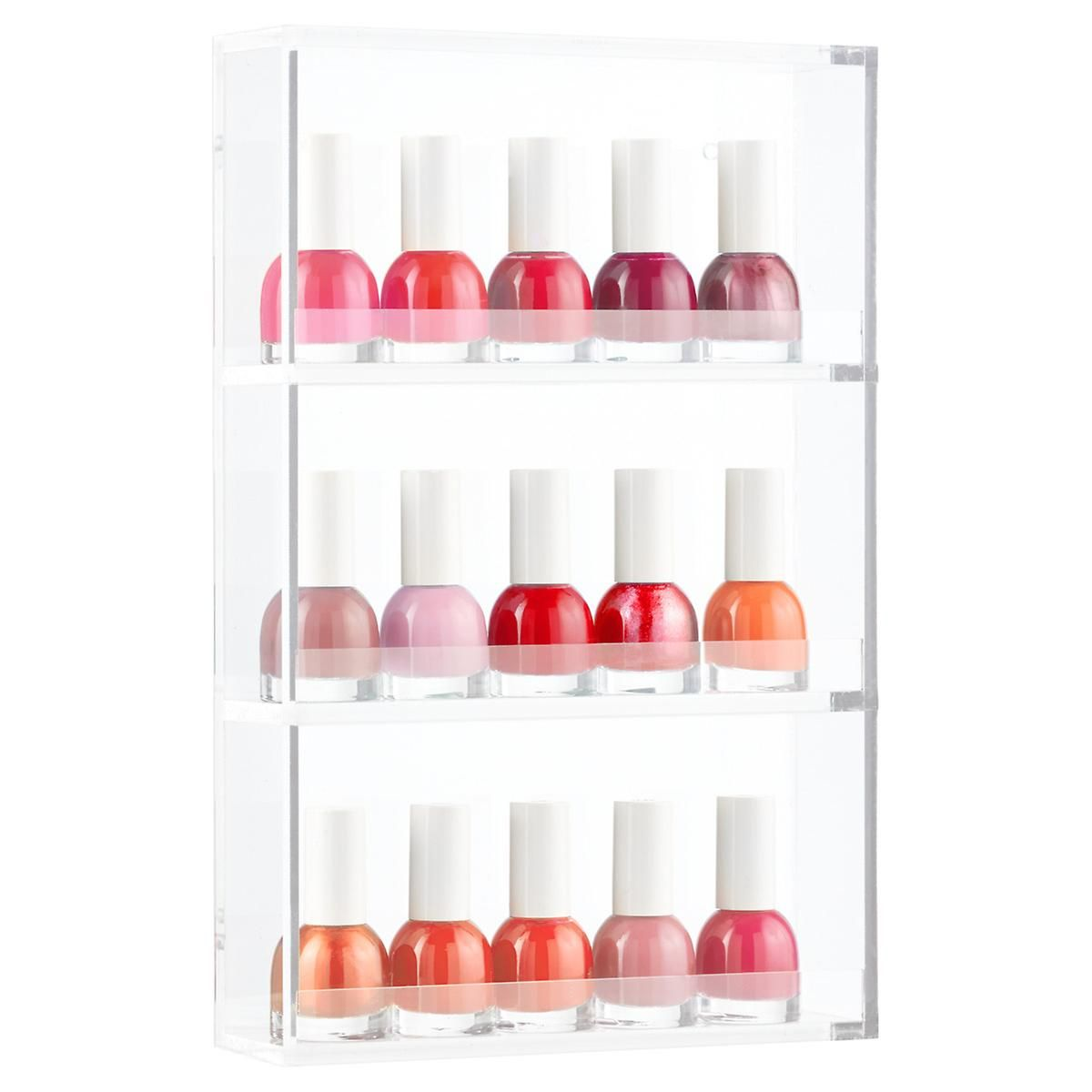 3 Tier Acrylic Nail Polish Rack The Container Store Organized