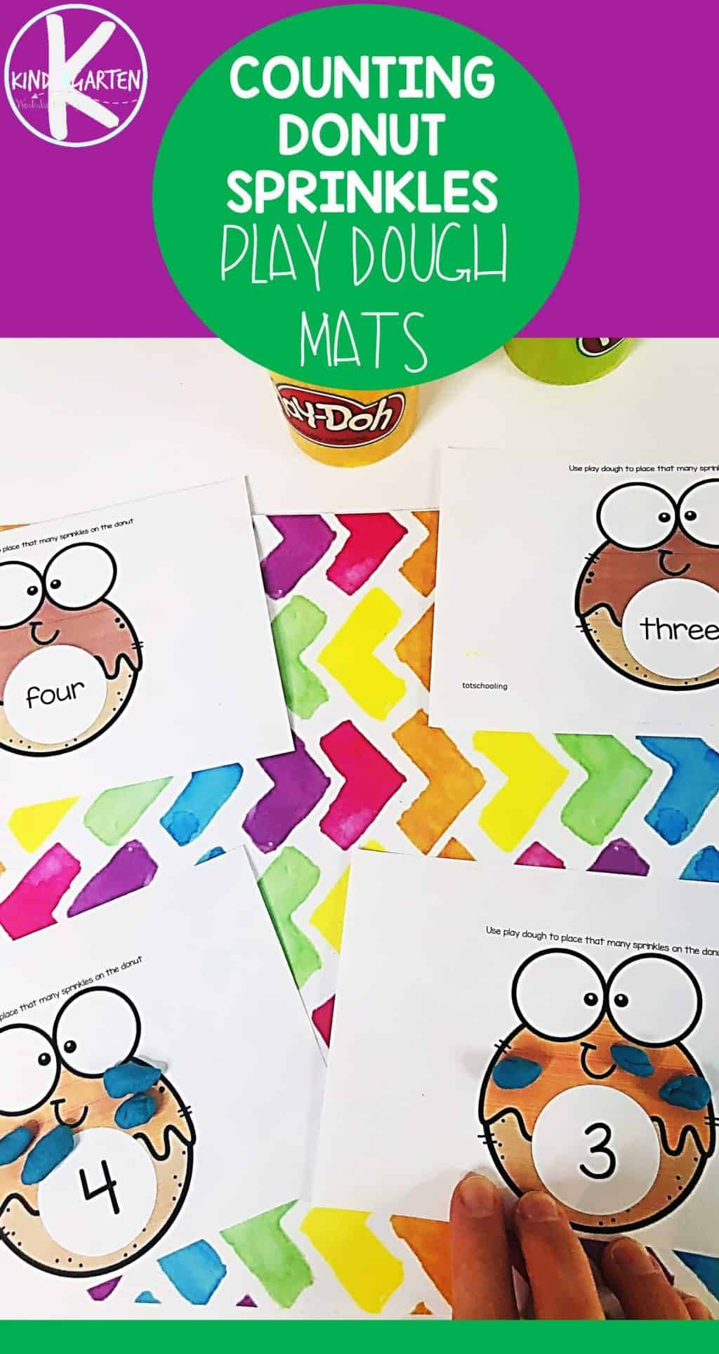 Free Donut Counting Playdough Mats For National Donut Day