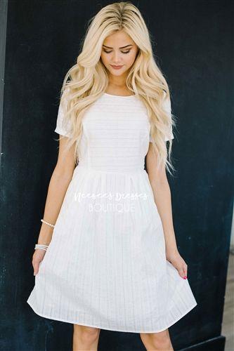 48222a226c11 White Cotton Sundress, Modest Dress Bridesmaids Dress, Church Dresses,  dresses for church, modest bridesmaids dresses, trendy modest dresses,  modest womens ...