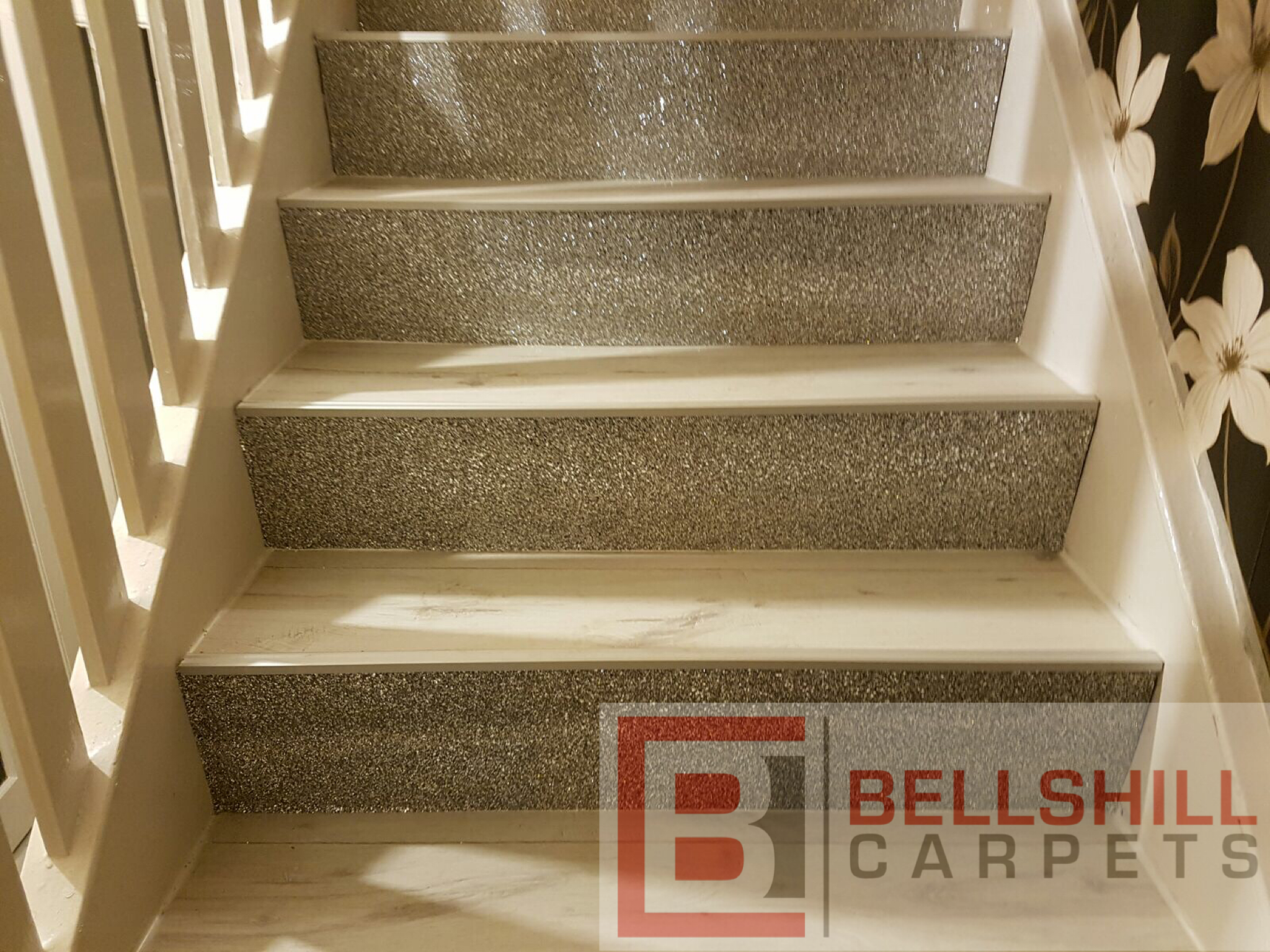 Best Glitter Stairs With White Laminate Glitter Stairs White 400 x 300