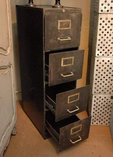 Industrial Filing Cabinet Metal Filing Cabinet European Antiques