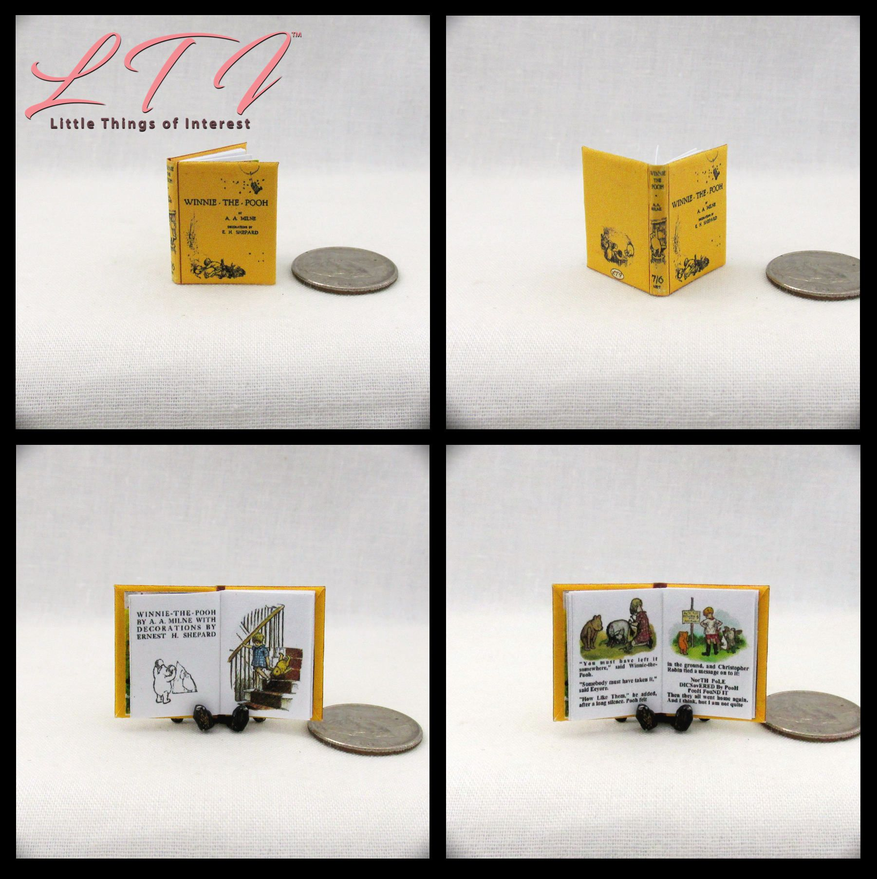 A CHILDREN/'S GARDEN OF VERSES Miniature Book Dollhouse 1:12 Scale Illustrated