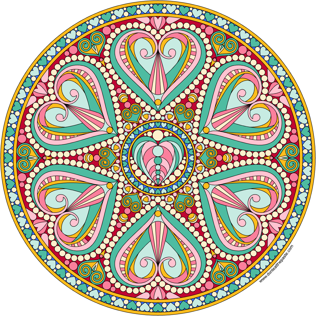 Jewish mandala coloring pages - Mandalas To Color