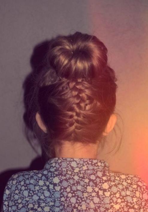 braid with a bun on top
