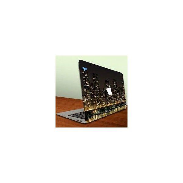 Macbook Air or Macbook Pro (13 inch) Vinyl, Removable Skin Cityscape... via Polyvore