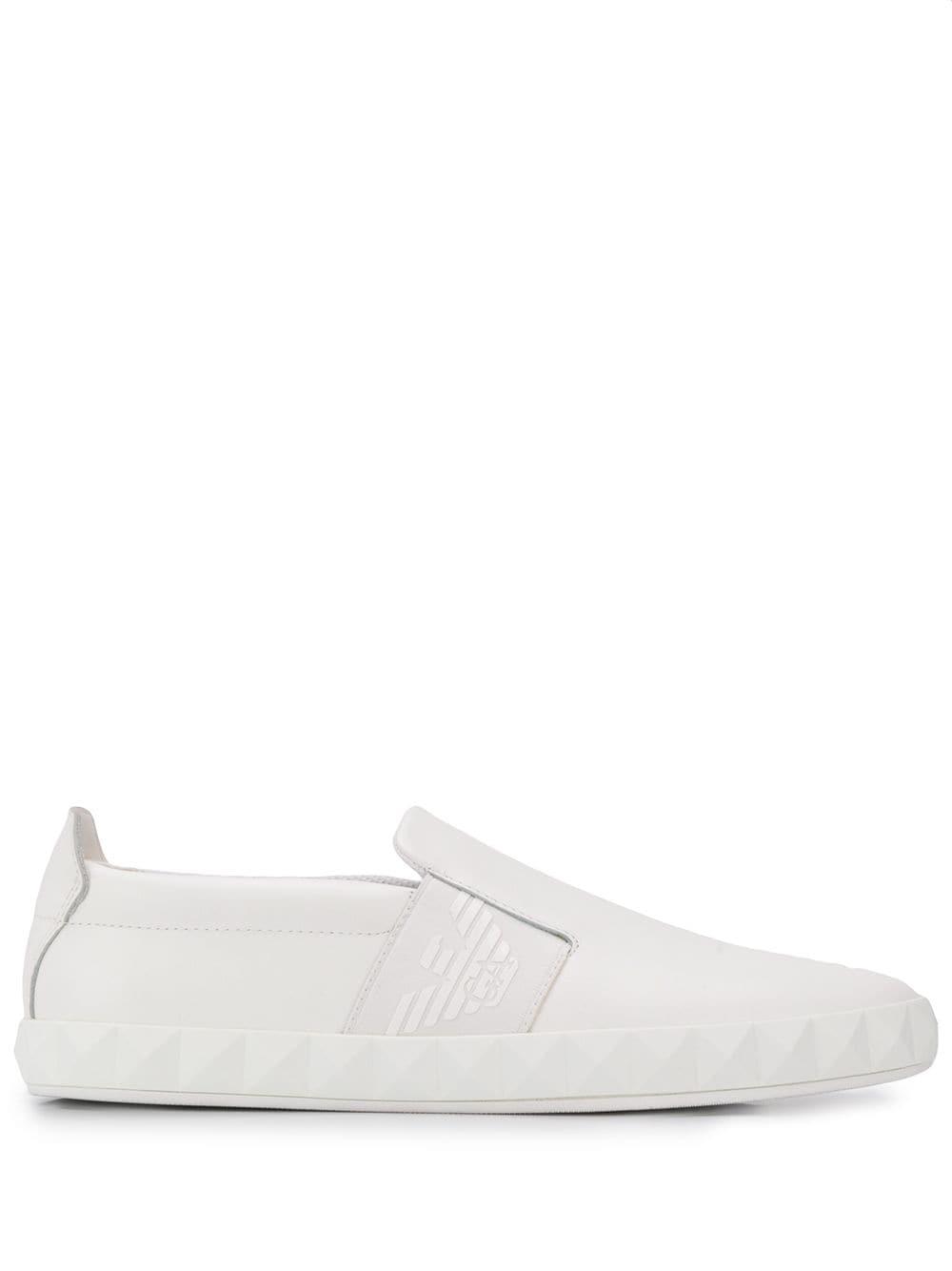 fc3ef0ac9 Emporio Armani slip-on sneakers - White in 2019 | Products | Emporio ...