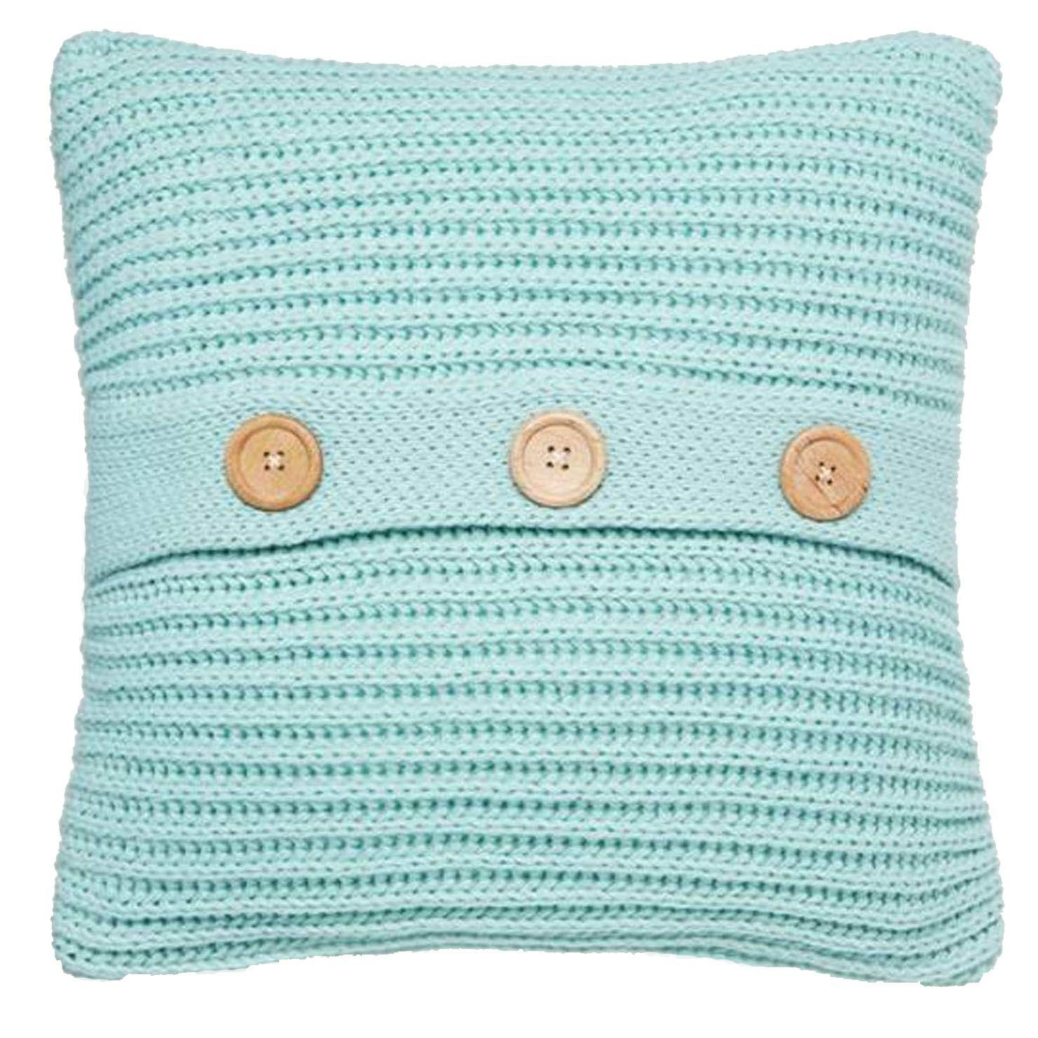 Chunky knit cushion duck egg lindie pinterest cushions