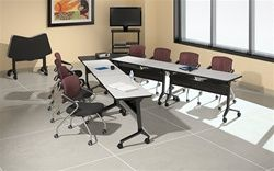 FlipNGo Training Tables Configuration By Mayline Office - Conference table setup