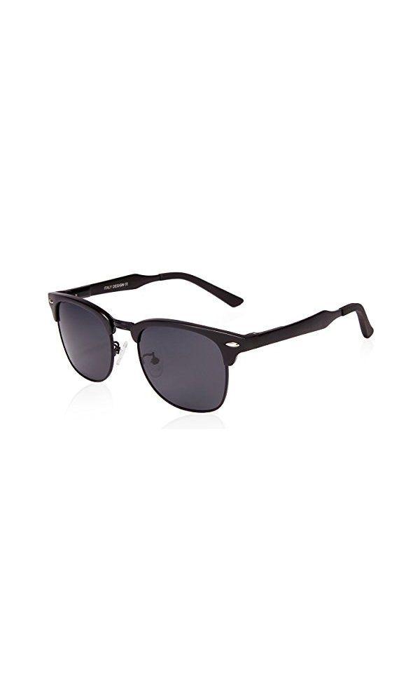 SUNGAIT 80s Sunglasses Retro Semi Rimless Clubmaster for Men Women