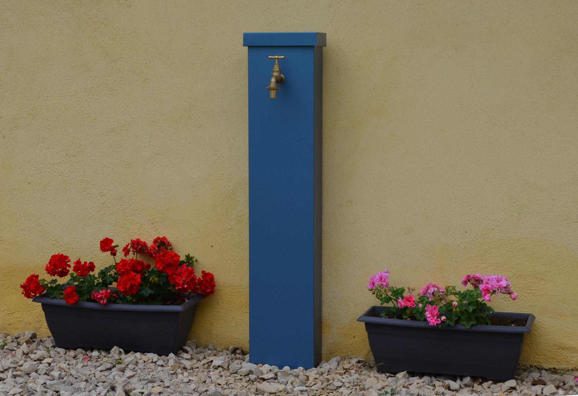 Fontaine de jardin zinc MYOSOTIS   LEON_fontaine   Pinterest