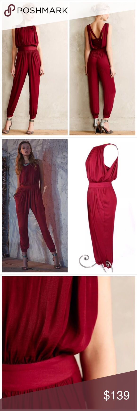 c0cc558f3438 I just added this listing on Poshmark: Anthropologie Nomad Morgan Carper  Garnet Jumpsuit. #shopmycloset #poshmark #fashion #shopping #style #forsale  ...
