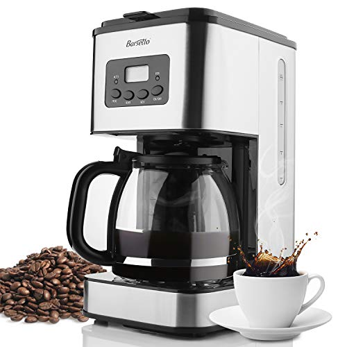 Barsetto 10 Cup Coffee Machine Stainless Programmable Setting Coffee Maker Coffee Machine Best Coffee Grinder