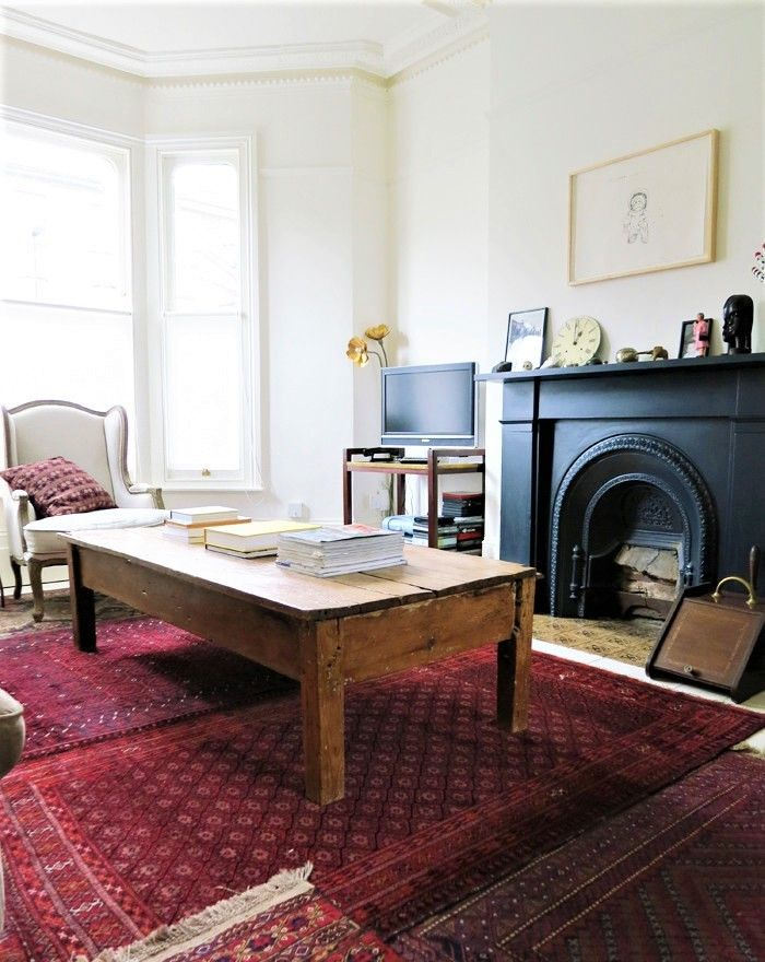 Room · Vintage Interior Decor, Eclectic Living Room, Red Rug, Oriental ... Part 55