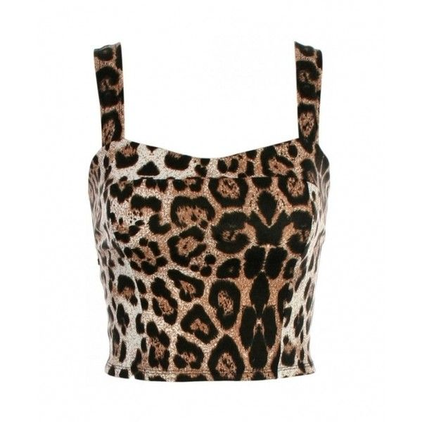 c19d8269c7 KRISP Animal Print Bow Back Cropped Top ( 18) ❤ liked on Polyvore featuring  tops