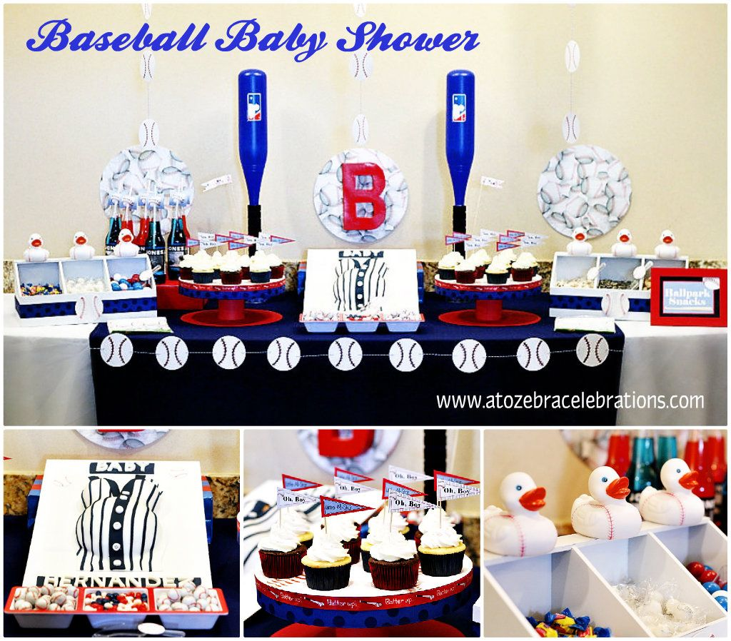 Baseball Baby Shower-http://atozebracelebrations.com/2013/09/baseball-baby-shower.html