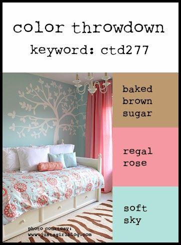 Color Throwdown - great site for color coordination for scrap booking but also can be used for home decor