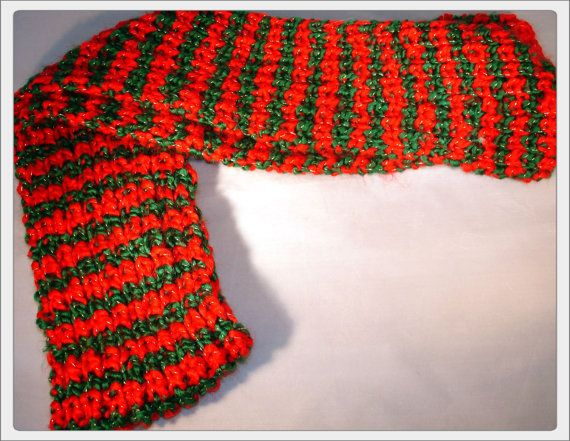 Red Scarf Green Scarf Gold Scarf Winter Scarf Christmas Scarf