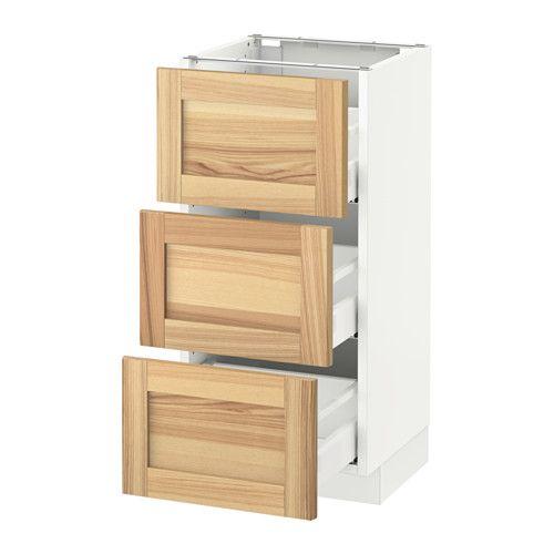 Ikea Kitchen Usa: Base Cabinet With 3 Drawers, White Maximera, Ringhult