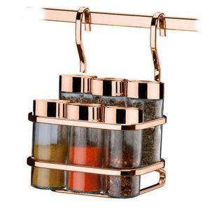 Suporte P/ Temperos/Condimentos 7 Pecas – Rosé Gold – FT2808RG – Future – Viva Decora Mutfak