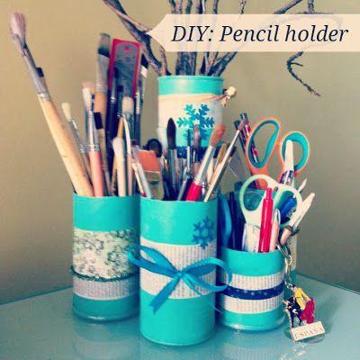 Art Craft Travel: DIY: Pencil holder from Pringles tubes
