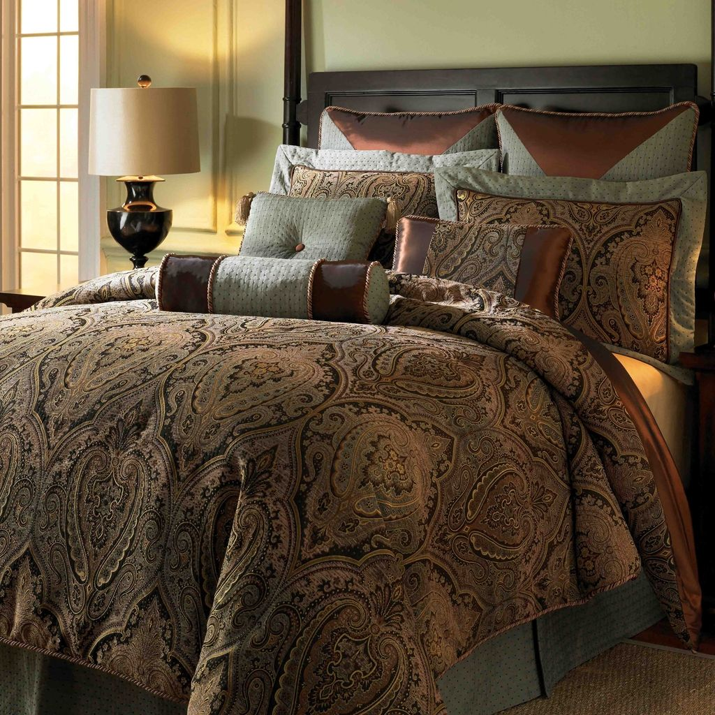 Captivating King Comforter Set   Brown, Canovia Springs By Hampton Hill