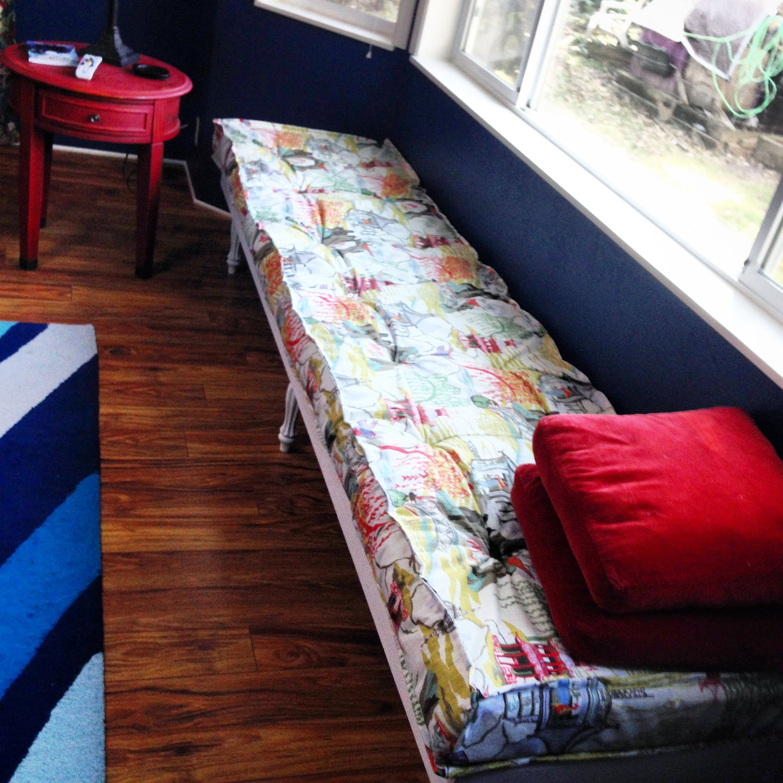 DIY window seat, Robert Allen Fabrics, Robert Allen Neo Toile ...