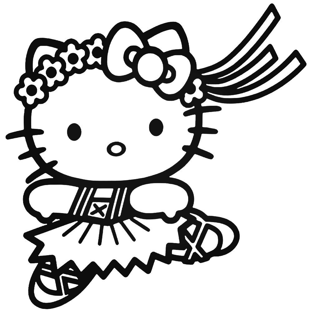 Ausmalbilder Hello Kitty Weihnachten : Hello Kitty 23 Decal