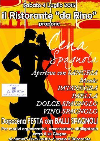 4 luglio 2015 - cena spagnola al Ristorante DA RINO