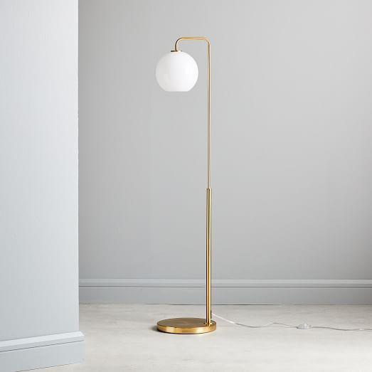 Sculptural Glass Pebble Floor Lamp Clear Globe Floor Lamp Glass Table Lamp Glass Floor Lamp
