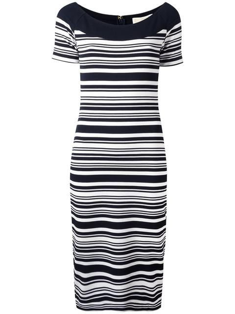 Michael Kors Striped Ed Dress Michaelmichaelkors Cloth