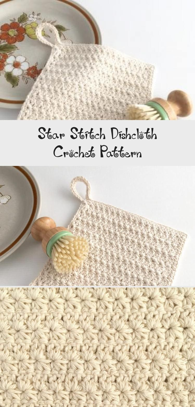 Learn to crochet the star stitch and make a useful #dishcloth at the same time w…