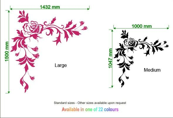Rose wall sticker