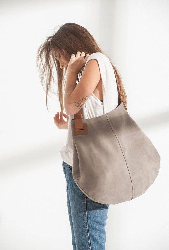 Stone Khaki Leather Tote Bag Handbag Bagsandpurses Etsymktgtool Etsy Me 2fadczf Leatherhandbag Totebag Uniquepurse