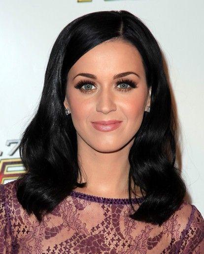Katy Perry Medium Length Wavy Hair Styles For Black Hair Wavy Hair