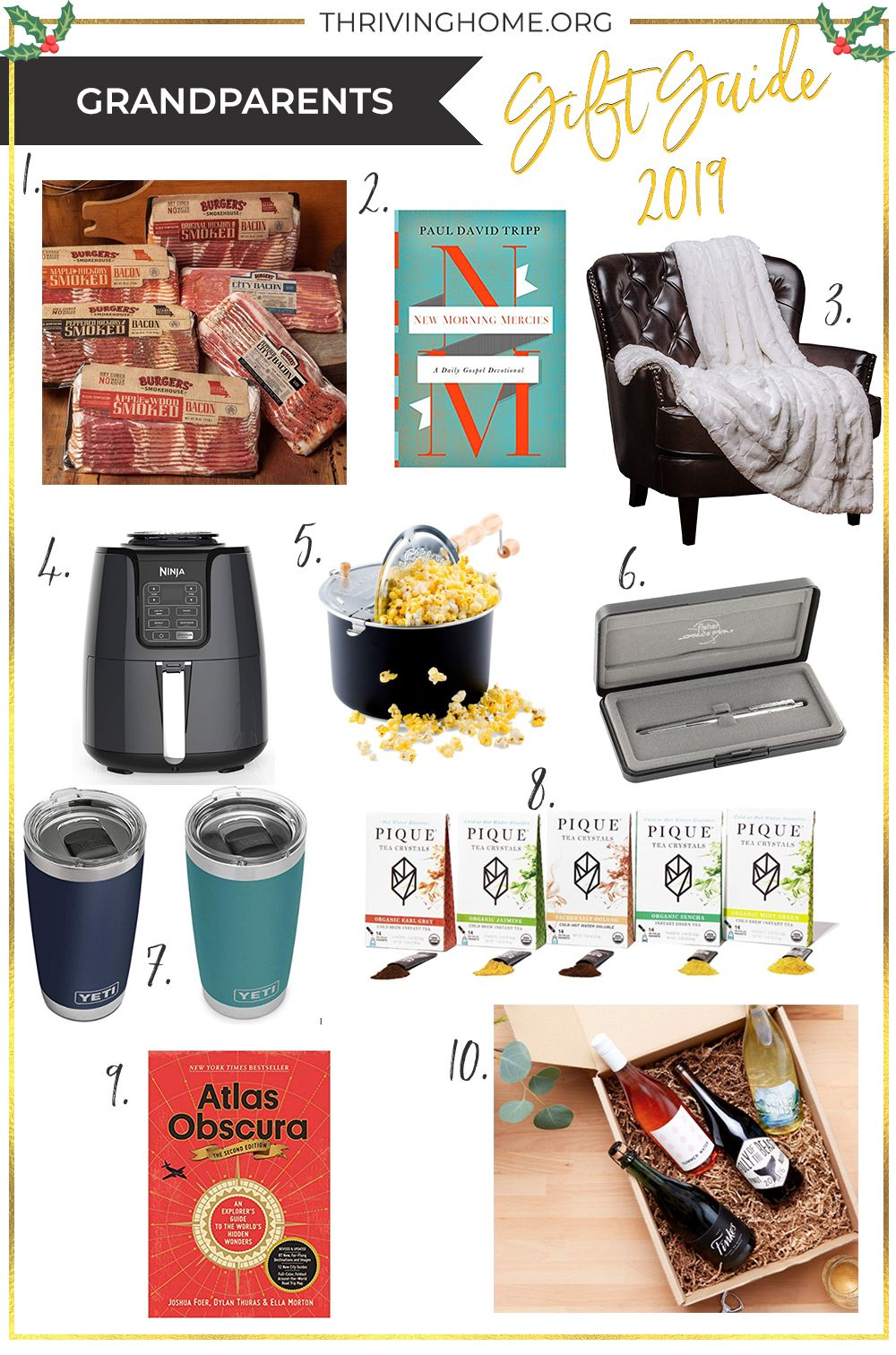 Gift Guide: Grandparents - Thriving Home #bestgiftsforgrandparents