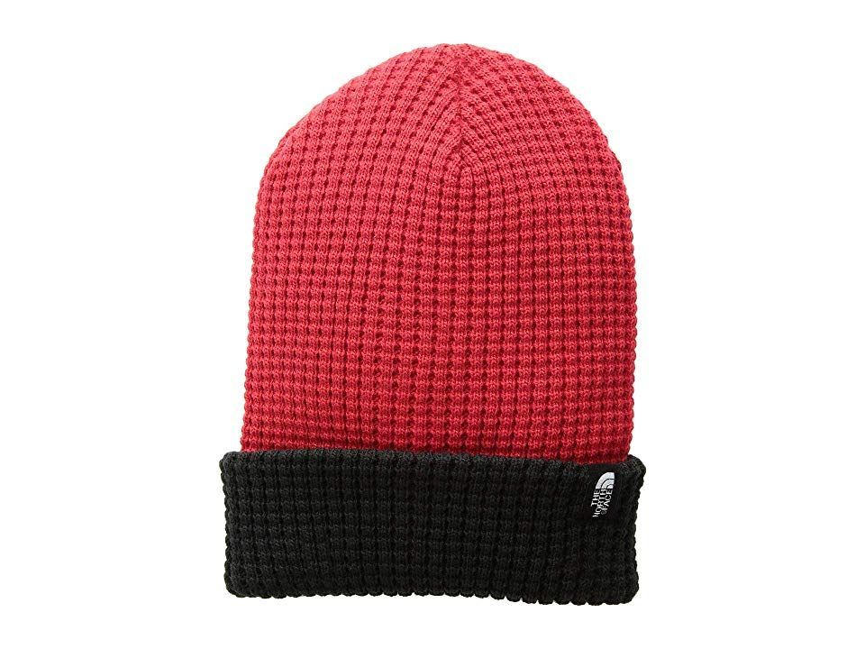 dec55e9e The North Face Kids Waffle Beanie (Big Kids) (TNF Red/TNF Black) Beanies. Face  the cold in stylish comfort with the classic look of The North Face Kids ...