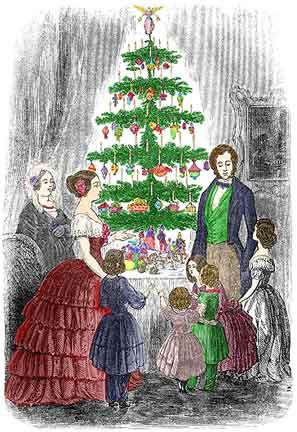 The Stealth Campaign To Bring The Christmas Tree Into American Homes New England Histori Victorian Christmas Tree Vintage Christmas Cards Victorian Christmas