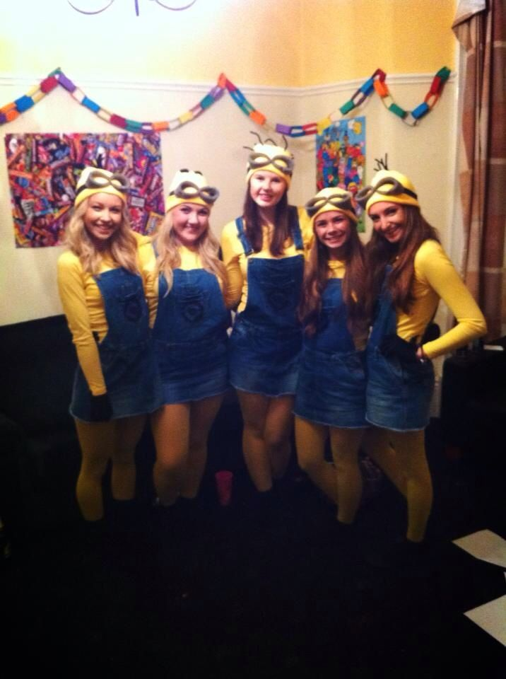Minions - Despicable Me Fancy Dress Homemade Halloween Group Costume. How to tutorial how to make homemade DIY Minion fancy dress costumes.  sc 1 st  Pinterest & Minions - Despicable Me Fancy Dress Homemade Halloween Group Costume ...