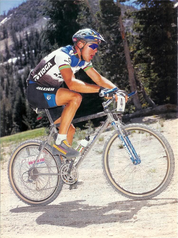 John Tomac Racing his Raleigh signature Mountain bike