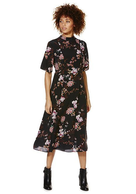 326c81fe45 Tesco direct: F&F Oriental Floral Print Midi Dress | Fashion ...
