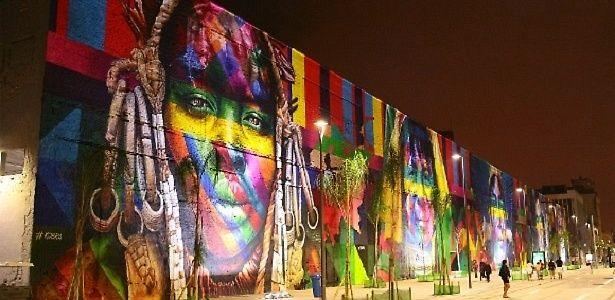 Maior grafite feito por equipe, mural de Kobra no Rio entra para o Guinness