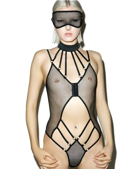 683fb6574 Bad Luck Dragon Fishnet Bodysuit