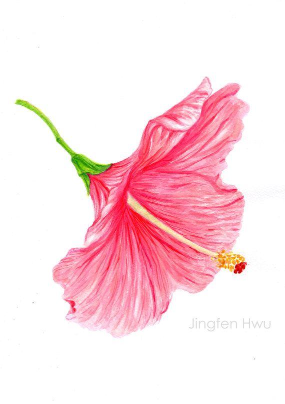 Art Print Of Original Artwork Flower Painting A Skirt Like Flower
