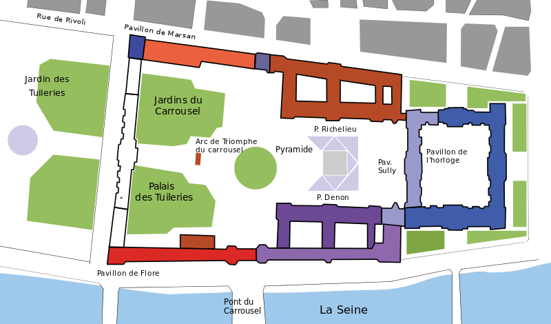 The Tuileries Palace White Was Located At The West End Of The